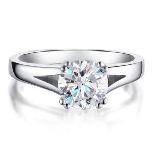 Inel Solitaire Simulated Diamond Argint 925 Marimea 80