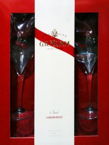Sampanie MUMM Cordon Rouge Set cadou cu 2 pahare2