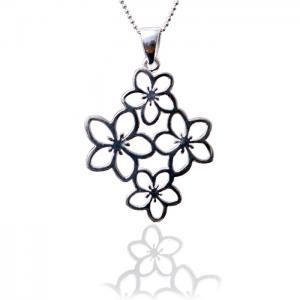 Medalion Borealy Argint 925 White Flower1