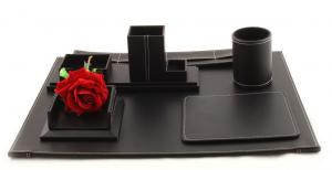 Business Desk Multi Black Leather0