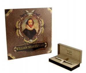 Cadou Shakespeare Meets Parker, stilou din argint masiv şi cu peniţă din aur0