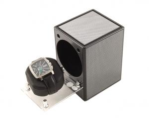 Automatic Watch Winder Piccolo Carbon by Designhutte - Made in Germany0