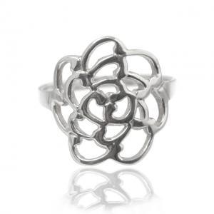 Inel Trandafir Argint 925 by Borealy Marimea 90