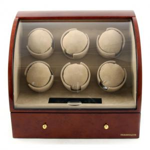 Watch Winder Basel 6 BROWN by Designhütte – Made in Germany0