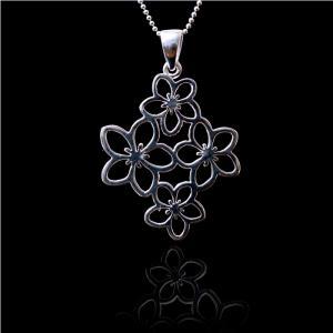 Medalion Borealy Argint 925 White Flower2