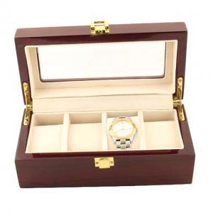 Cutie 4 ceasuri lemn Luxury