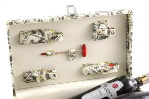 Cutie dublă de vin cu accesorii - Dollar Style5