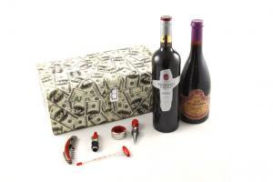 Cutie dublă de vin cu accesorii - Dollar Style2