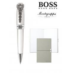 Set Caduceus Ballpoint Montegrappa si Note Pad Hugo Boss
