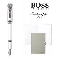 Set Caduceus Fountain Pen Montegrappa si Note Pad Hugo Boss0