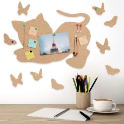 Cat and Butterflies Tabla din pluta1