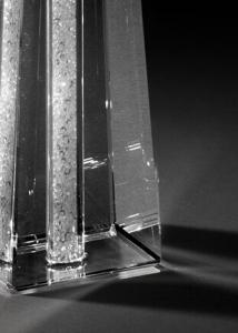 Sfeșnic din cristal CANDELABRO SINGOLO GLITTER cu cristale la interior by Chinelli, made in Italy1