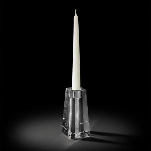 Sfeșnic din cristal CANDELABRO SINGOLO GLITTER cu cristale la interior by Chinelli, made in Italy