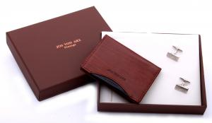 Cardholder & Cufflinks Set by Jos von Arx0
