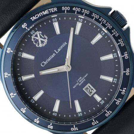 Ceas Date Element Navy Christian Lacroix si Butoni Azure Clock by Borealy Desk1