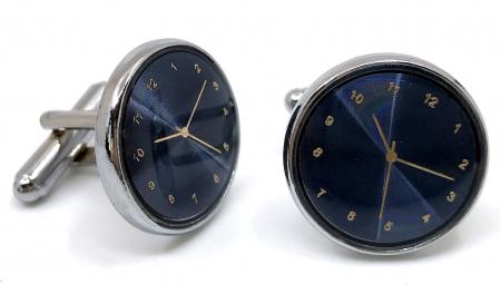 Ceas Date Element Navy Christian Lacroix si Butoni Azure Clock by Borealy Desk3