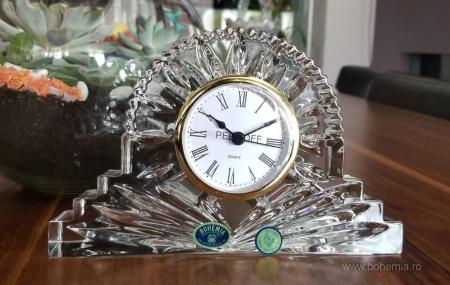 Ceas de masa din Cristal de BOHEMIA - 19 cm [2]