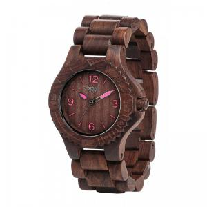 Choco Pink Wood Watch for Women - Ceas 100% din Lemn Lucrat Manual0