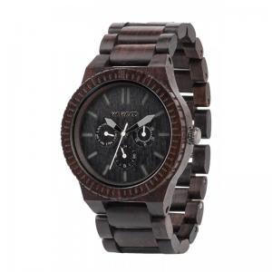 Kappa Black Wood Watch for Men - Ceas 100% din lemn lucrat manual0