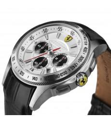 Ceas Luxury Scuderia Ferrari Leather Chronograph2