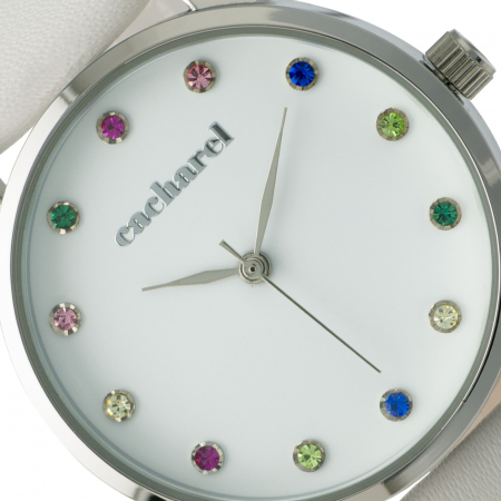 Ceas Cacharel Multicolor Crystals White [1]
