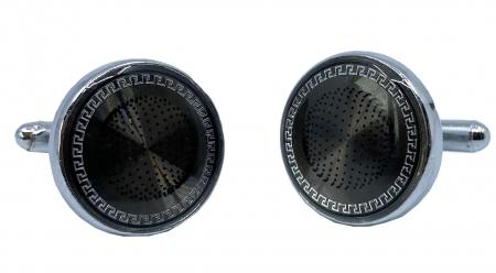 Ceas Ungaro Primo Chrome & Butoni Borealy Elegant Round Silver2