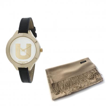 Ceas Ungaro - Watch Confetti Black & Esarfa Casmir Borealy