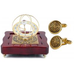 Set Ceas Zodiac Gold Plated by Credan si Butoni Gold Round by Credan