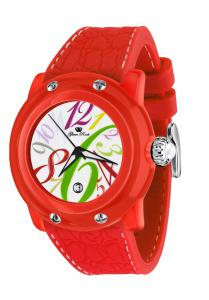 Ceas Alligator Red Print Glam Rock