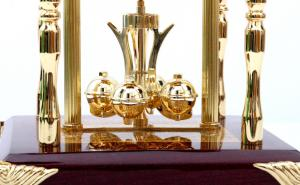 Set Ceas Danube by Credan si Butoni Gold Round by Credan3