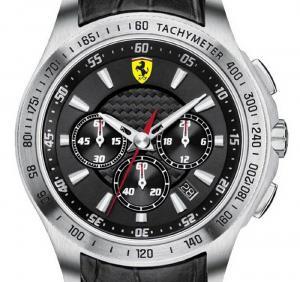 Ceas Luxury Scuderia Ferrari Black1