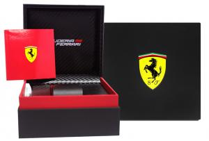 Ceas Luxury Scuderia Ferrari Leather Chronograph0