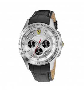 Ceas Luxury Scuderia Ferrari Leather Chronograph1