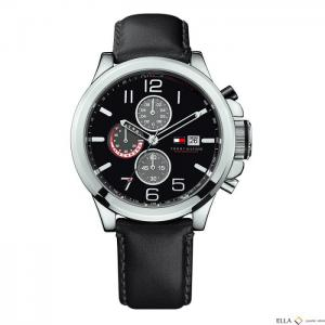 Ceas Tommy Hilfiger Black Leather0