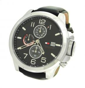 Ceas Tommy Hilfiger Black Leather1