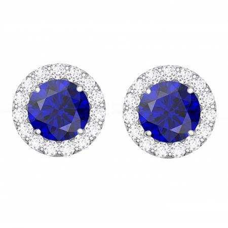 Cercei Borealy Argint 925 Blue Safir One Ocean 5 carate