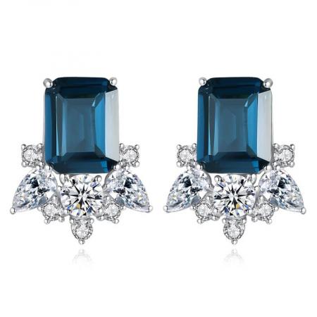Cercei Lady Sapphire Blue Green0