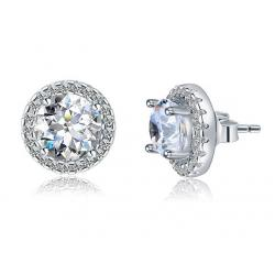 Cercei Borealy Argint Diamonds Halo One & Two1