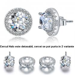 Cercei Borealy Argint Diamonds Halo One & Two
