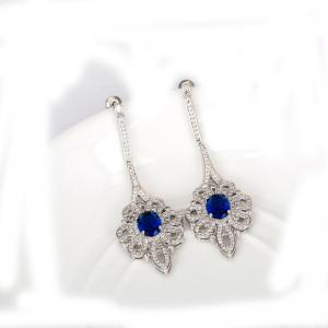 Cercei Borealy Chandelier Glam Royal Blue1