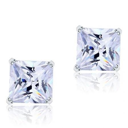 Cercei Borealy Large One Diamond Square Princess0