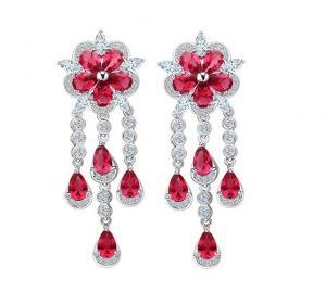 Cercei Borealy Ruby Flower Chandelier0