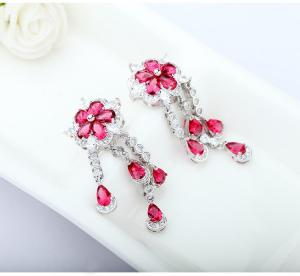 Cercei Borealy Ruby Flower Chandelier1