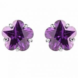 Cercei Borealy Sapphire Studs Flower Cut Purple0