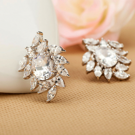 Cercei Bridal Flower Glamour1