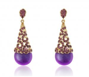 Cercei Chandelier Purple & Opal0