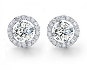 Cercei Argint Borealy Diamonds Halo One1