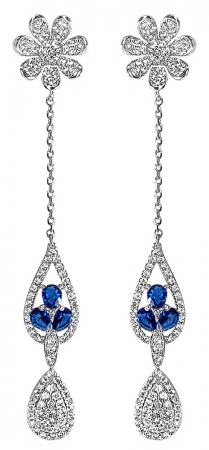 Cercei Crystal Drop Fine Blue0