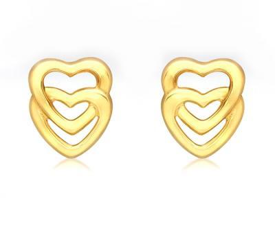 Cercei Aur 9 kt Love Heart