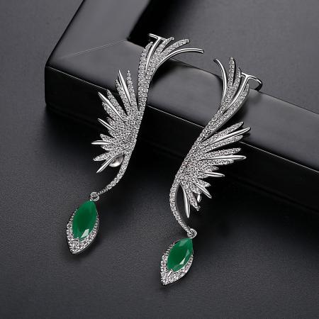 Cercei Ear Cuff Green Angel [3]